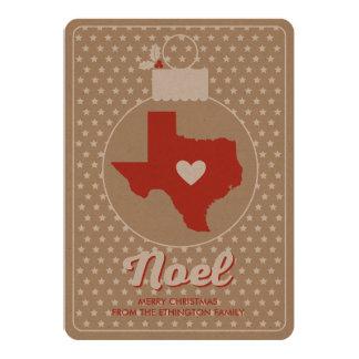 Noel Texas Christmas Bauble Holiday Photo Card