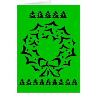 Noël vert carte de vœux