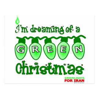 Noël vert cartes postales