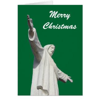 Noël vert de Jésus Carte De Vœux