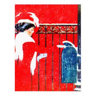 Noël victorien de Coles Phillip Carte Postale