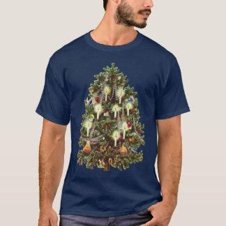 Noël vintage, arbre victorien décoré t-shirt