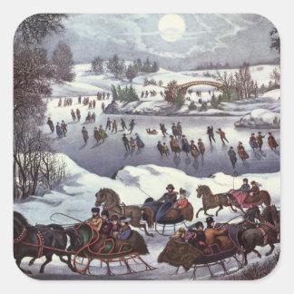 Noël vintage Central Park en hiver