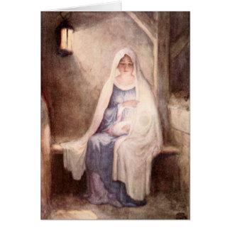 Noël vintage Jésus et Mary Carte De Vœux