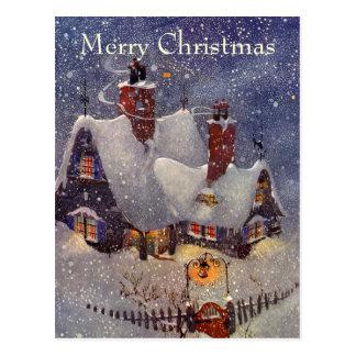 Noël vintage l atelier de Père Noël au Pôle Nord Cartes Postales