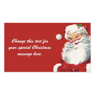 Noël vintage, le père noël cartes de visite personnelles