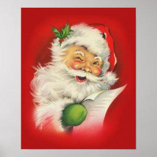 Noël vintage le père noël poster