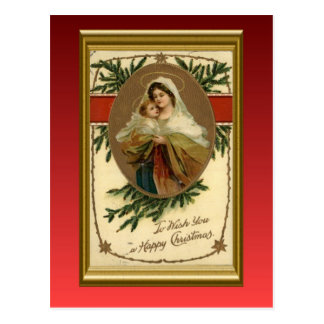 Noël vintage Mary et bébé Jésus Cartes Postales