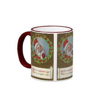 Noël vintage Père Noël de vacances Mugs