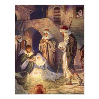 Noël vintage, trois bergers et Jésus Bristol Personnalisé