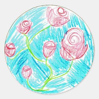 Noelle: Round Sticker