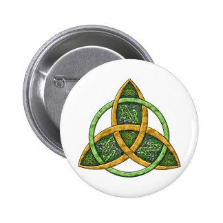 Noeud celtique de trinité macaron rond 5 cm
