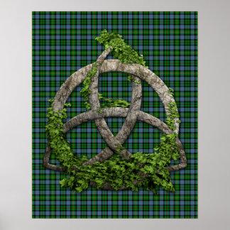 Noeud de trinité et tartan celtiques de Smith de c Poster