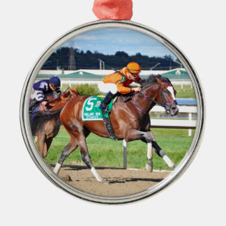Noholdingback Bear - Gallant Bob Stakes Silver-Colored Round Ornament