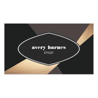 Noir abstrait géométrique vintage frais et hanche carte de visite standard