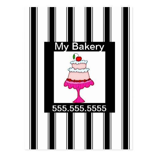 Noir, blanc et rose, boulangerie carte postale