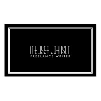 Noir/blanc simples de style d'art déco d'élégance carte de visite standard