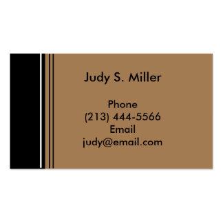 noir bronzage carte de visite standard