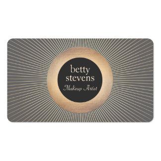 Noir chic fascinant de maquilleur vintage d'or carte de visite standard