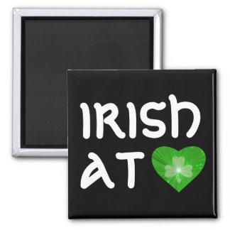 """Noir d'aimant à coeur de coeur de shamrock """"Irland"""