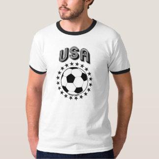 NOIR DE BALLON DE FOOTBALL DES ETATS-UNIS T-SHIRT