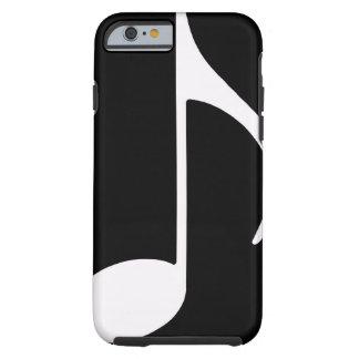 noir de ~ de note musicale coque iPhone 6 tough