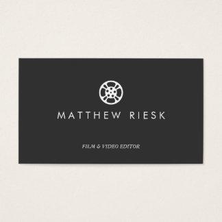 Noir de logo, de film et de table de montage de cartes de visite