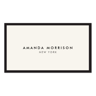 Noir de luxe élégant et de raffinage de carte de visite standard