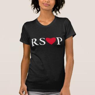 Noir de T-shirt de coeur de RSVP