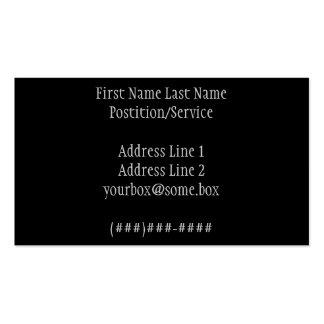 Noir élégant carte de visite standard