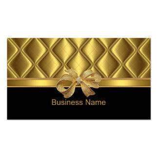 Noir élégant d'équilibre de tuile d'arc d'or de carte de visite standard