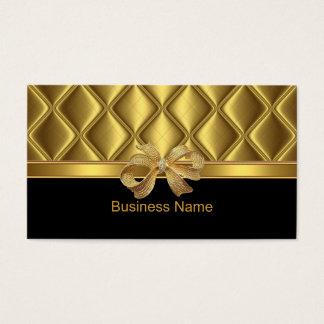 Noir élégant d'équilibre de tuile d'arc d'or de cartes de visite