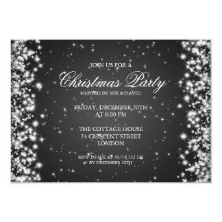 Noir élégant d'étincelle de partie carton d'invitation  12,7 cm x 17,78 cm
