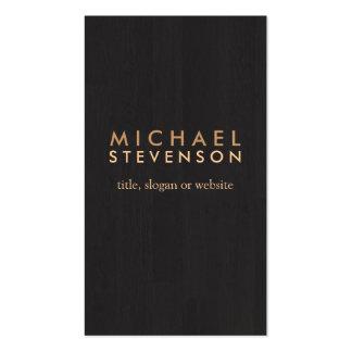 Noir en bois professionnel simple de regard de cartes de visite professionnelles