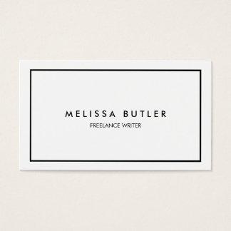 Noir et blanc élégant professionnel minimaliste cartes de visite