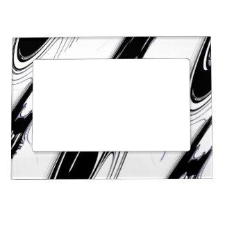 Noir et blanc moderne cadre aimant avec photo for Cadre noir et blanc