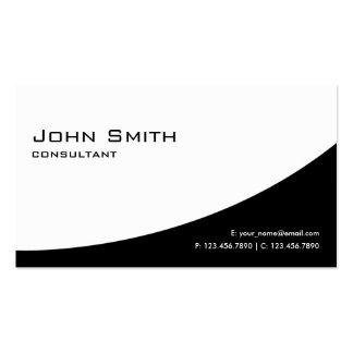 Noir et blanc moderne élégant simple professionnel carte de visite standard