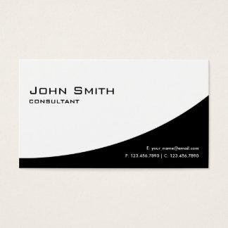 Noir et blanc moderne élégant simple professionnel cartes de visite