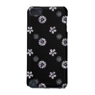 Noir et caisse florale d'iPod d'effet de paillette Coque iPod Touch 5G