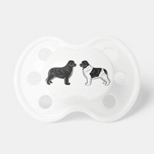 Noir et chiens de Landseer Terre-Neuve Sucettes Pour Bébé