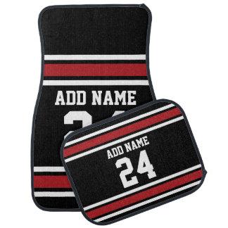 Noir et rouge folâtre le nombre nommé fait sur tapis de voiture