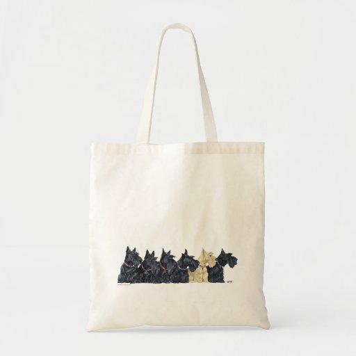 Noir et terriers écossais blonds comme les blés sacs en toile