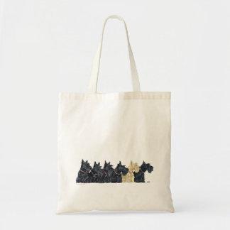 Noir et terriers écossais blonds comme les blés sac en toile budget