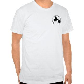 Noir étroit de Cabernet CHA Blanc de T-shirt