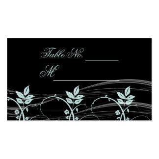 Noir floral vintage d équilibre et carte bleue gla cartes de visite personnelles