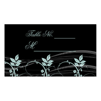 Noir floral vintage d'équilibre et carte bleue cartes de visite personnelles
