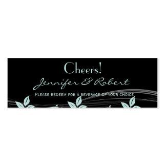 Noir floral vintage d'équilibre un billet bleu carte de visite