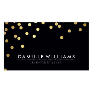 Noir frais moderne de feuille d'or de motif de carte de visite standard