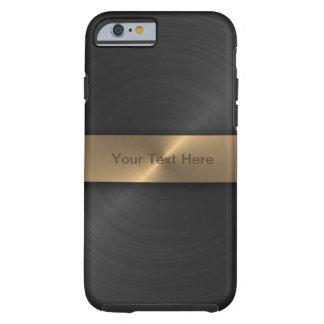 Noir métallique et or coque iPhone 6 tough