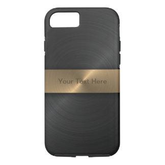 Noir métallique et or coque iPhone 7